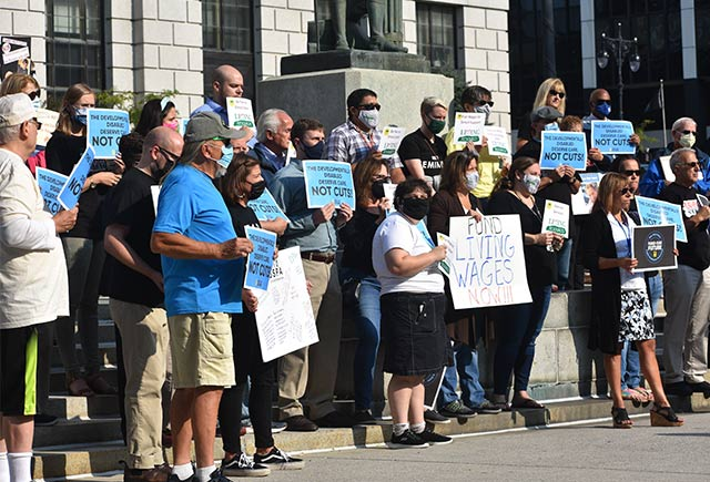 Crisis at OPWDD: PEF rallies for increased wages, staffing