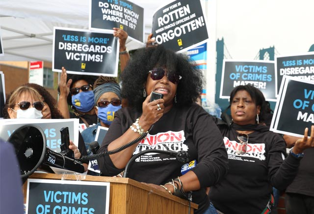 Victims, parole officers matter: Rally denounces Less is More